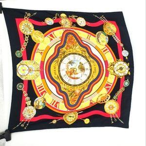 Vintage Hermès parmi les fleurs silk scarf